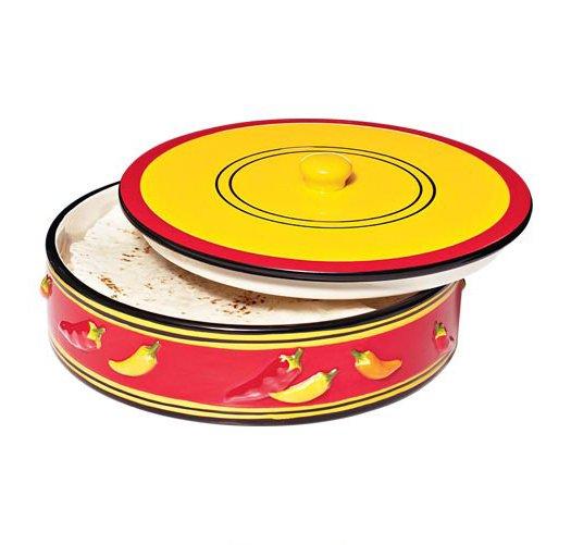 Hand Painted Ceramic Tortilla Warmer Avon