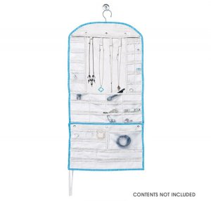Closet Jewelry Hanging Organizer with Travel Roll Avon