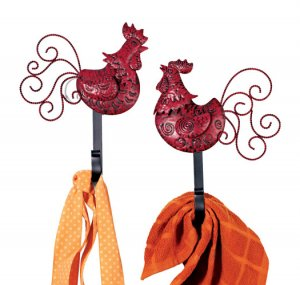 Rooster Decorative Wall Hooks - Avon