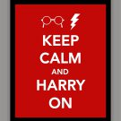 Keep Calm and Harry On Print