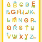 Fun and Colorful Alphabet Poster - Sunny colors