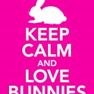 Keep Calm and Love Bunnies Print 11x14 inches