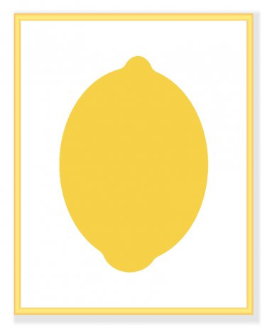 Modern Lemon print for your kitchen or home