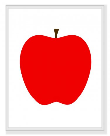 Modern Apple print for your kitchen or home