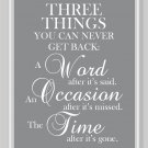 Three Things You can Never Get Back Print