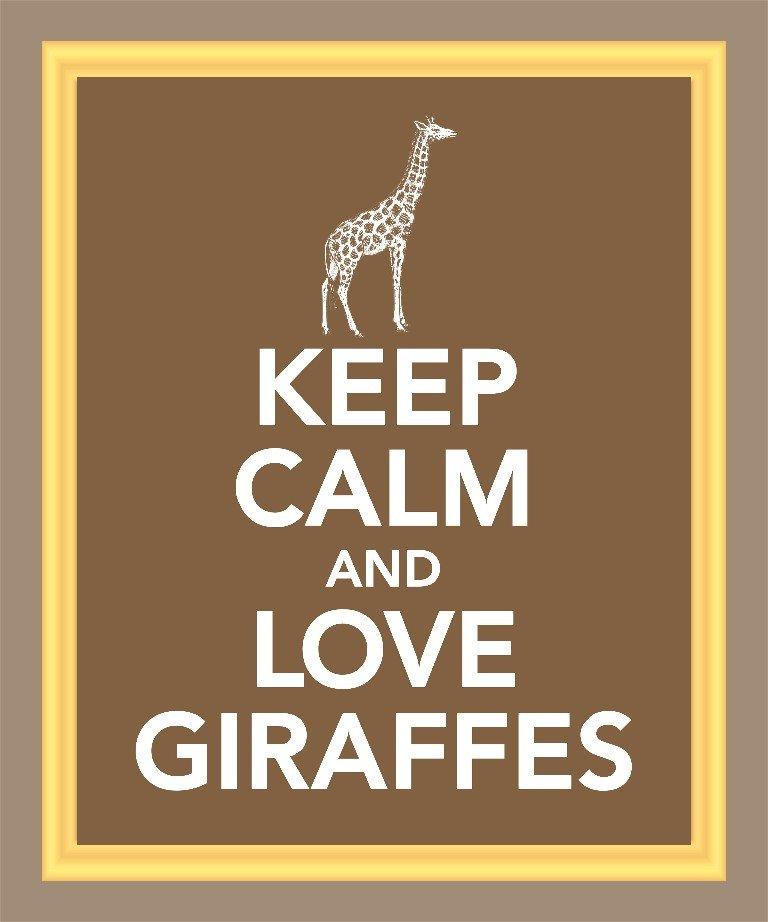 Keep Calm and Love Giraffes Print