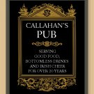 Personalized pub print for your home or man cave