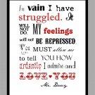 Pride and Prejudice Mr. Darcy's Proposal Print
