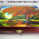 Exclusive Humidor  Cigar Box w/artwork . Cuban Art handmade signed by artist