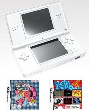 Nintendo DS Lite (Polar White) Bundle w/ 11 Games