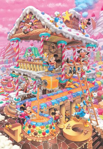 D-1000-421 Mickey Mouse Funniest Sweets Home (Japan Tenyo Disney Jigsaw Puzzle)