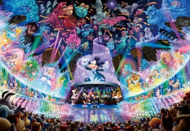 D-1000-399 Disney Water Dream Concert Mickey (Japan Tenyo Disney Jigsaw Puzzle)