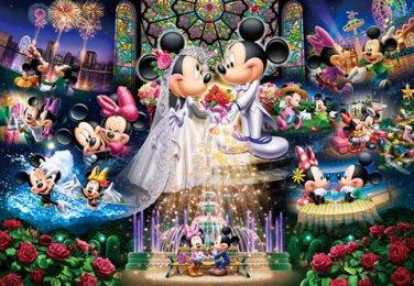 DG-2000-544 Minnie Mickey Mouse Church Wedding (Tenyo Disney Jigsaw Puzzle)