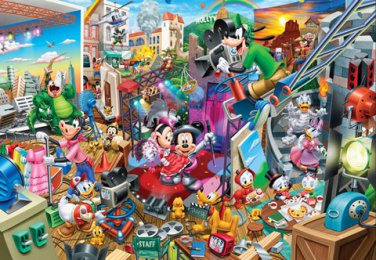 DG-2000-617 Disney Mickey Movie Studio (Japan Tenyo Disney Jigsaw Puzzle)