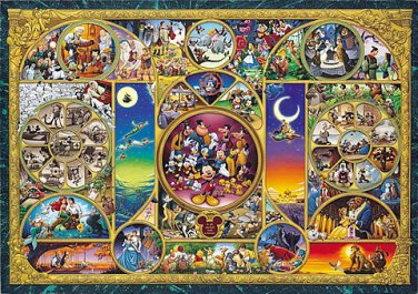 DW-1000-260 Disney All Characters Collection (Japan Tenyo Disney Jigsaw Puzzle)