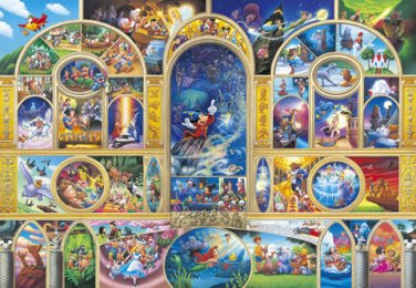 DW-1000-405 Disney All Characters Collection (Japan Tenyo Disney Jigsaw Puzzle)