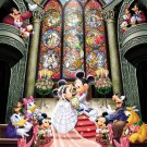 D-500-356 Minnie Mickey Mouse Church Wedding (Japan Tenyo Disney Jigsaw Puzzle)