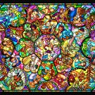 D-500-457 Disney All Star Stained Glass Jigsaw Gallery (Japan Tenyo Disney)
