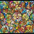 DPG-266-563 Disney All Star Stained Glass Jigsaw Gallery (Japan Tenyo Disney)