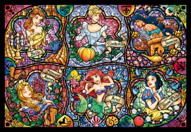 DSG-500-419 Disney Six Princess Stained Glass (Japan Tenyo Disney Jigsaw Puzzle)