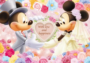 D-200-895 Disney Mickey and Minnie Mouse Wedding (Tenyo Disney Jigsaw Puzzle)