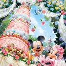 D-300-245 Disney Minnie Mickey Mouse Church Wedding Wonderful Cake (Tenyo)