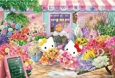 B-31-377 Hello Kitty Sweet Flowers Shop (Japan Beverly Sanrio Jigsaw Puzzle)