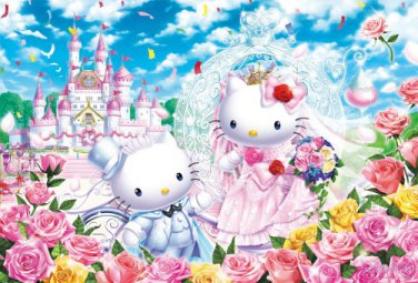 B-31-400 Hello Kitty Castle Wedding (Japan Beverly Sanrio Jigsaw Puzzle)
