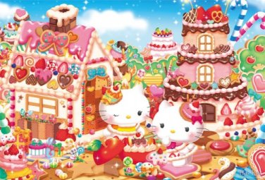 B-31-402 Hello Kitty Sweet Dream House (Japan Beverly Sanrio Jigsaw Puzzle)