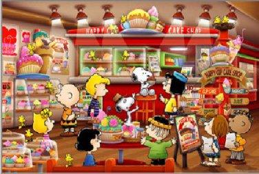 AP-10-193 Peanuts Snoopy and Woodstock - Cake Shop (Apollo-sha Jigsaw Puzzle)