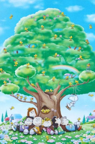 E-14-115 Peanuts Snoopy and Woodstock - BIG Tree (Japan Epoch Jigsaw Puzzle)
