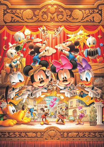 DW-1000-470 Marionette of love Minnie and Mickey (Tenyo Disney Jigsaw Puzzle)