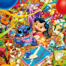 D-1000-337 Disney Lilo and Stitch Birthday (Japan Tenyo Disney Jigsaw Puzzle)