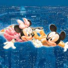 D-108-837 New York Night Flying Minnie Mickey (Japan Tenyo Disney Jigsaw Puzzle)