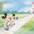 D-108-841 Disney Minnie Mickey Church Wedding (Japan Tenyo Disney Jigsaw Puzzle)