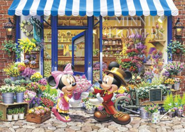 D-2000-547 Mickey and Minnie Flowers Shop (Japan Tenyo Disney Jigsaw Puzzle)