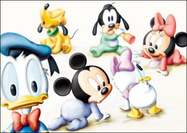 D-300-169 Disney Babies Mickey Minnie Donald (Japan Tenyo Disney Jigsaw Puzzle)