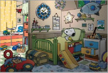 AP-10-834 Peanuts Snoopy and Woodstock (Japan Apollo-sha Jigsaw Puzzle