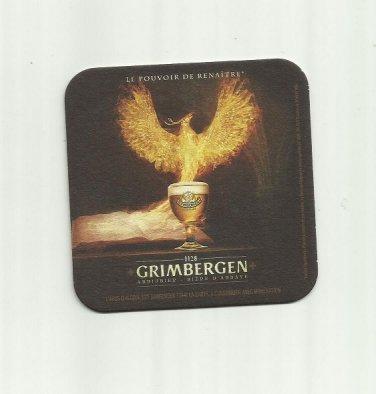 GRIMBERGEN BELGIAN FRENCH BEER MAT COASTER