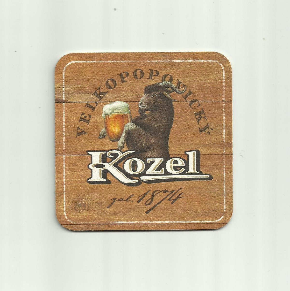 CZECH KOZEL LAGER BEER MAT COASTER