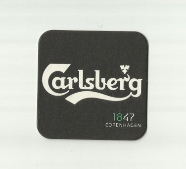 CARLSBERG 1847 COPENHAGEN BEER MAT COASTER