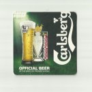 CARLSBERG OFFICIAL BEER OF THE BARCLAYS PREMIER LEAGUE FOOTBALL BEER MAT COASTER