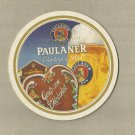 PAULANER BEER MUNICH BREWERY OKTOBERFEST BREWER GERMAN ADVERTISING BEER MAT COASTER