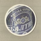 BALTIKA EXPORT BEER RUSSIAN ADVERTISING BEER MAT COASTER BALTIKA BEER ST PETERSBURG