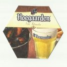 HOEGAARDEN WIT BLANCHE HEXAGON UKRAINIAN LANGUAGE ADVERTISING BEER MAT COASTER