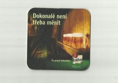 PILSNER URQUELL BEER CZECH BEER ADVERTISING BEER MAT COASTER