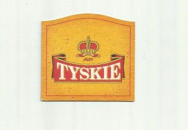 TYSKIE BEER POLISH ADVERTISING BEER MAT COASTER