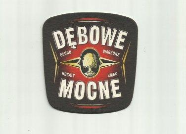 DEBOWE MOCNE STRONG LAGER POLISH ADVERTISING BEER MAT COASTER