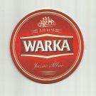 WARKA 1478 POLISH ADVERTISING BEER MAT COASTER