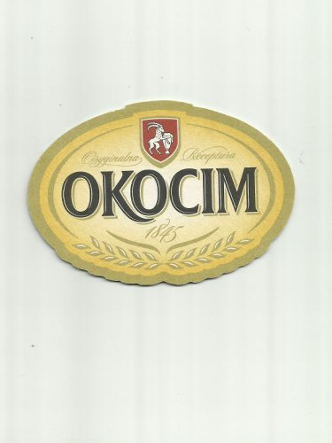 OKOCIM POLISH ADVERTISING BEER MAT COASTER